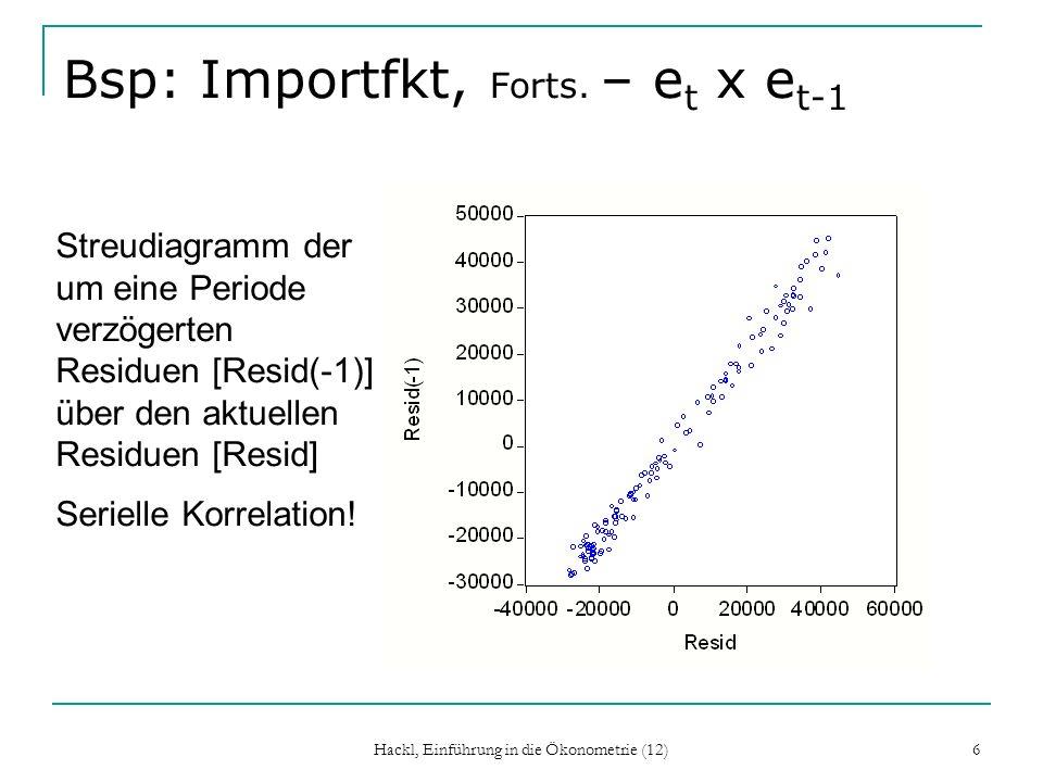Bsp: Importfkt, Forts. – et x et-1