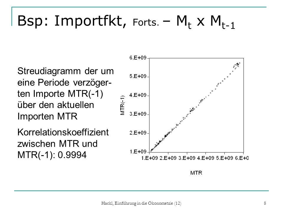 Bsp: Importfkt, Forts. – Mt x Mt-1