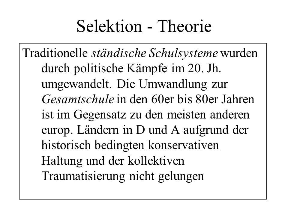 Selektion - Theorie