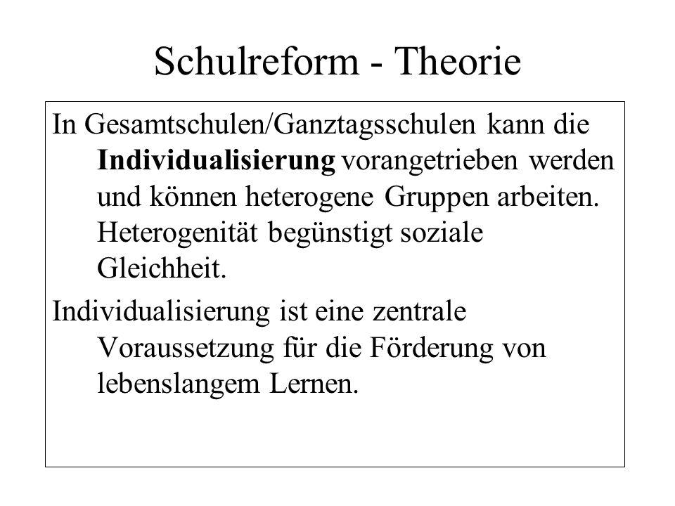 Schulreform - Theorie