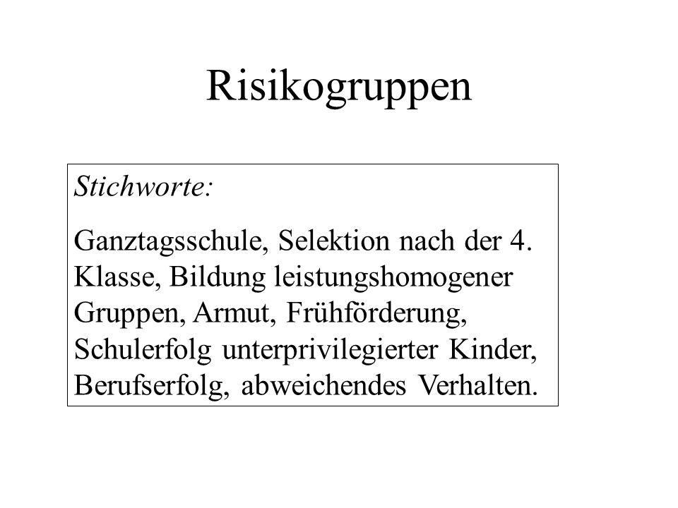 Risikogruppen Stichworte: