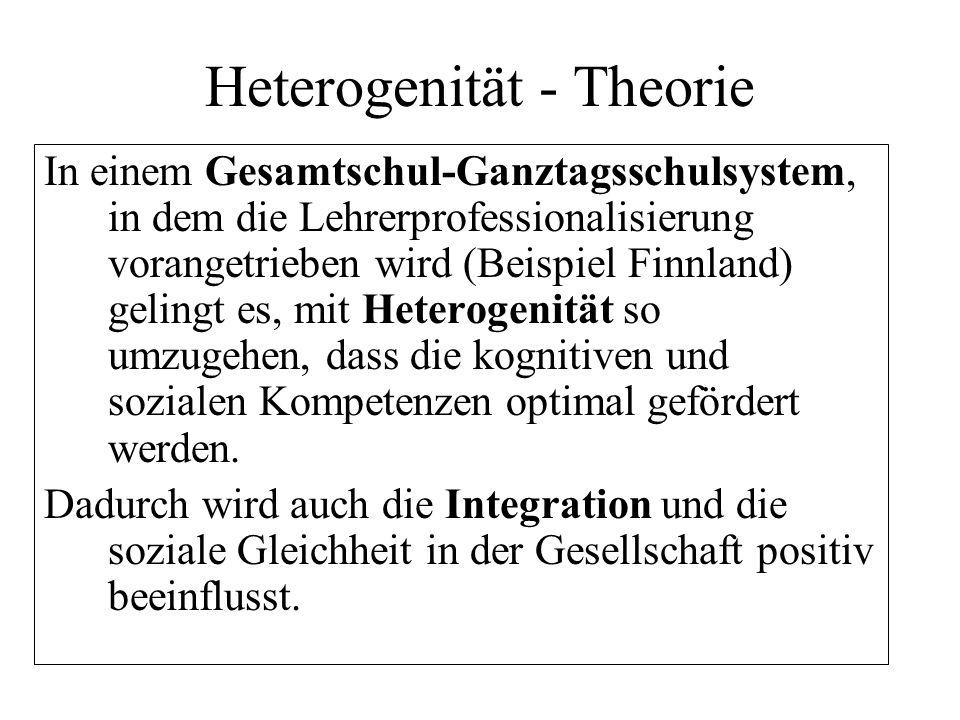 Heterogenität - Theorie