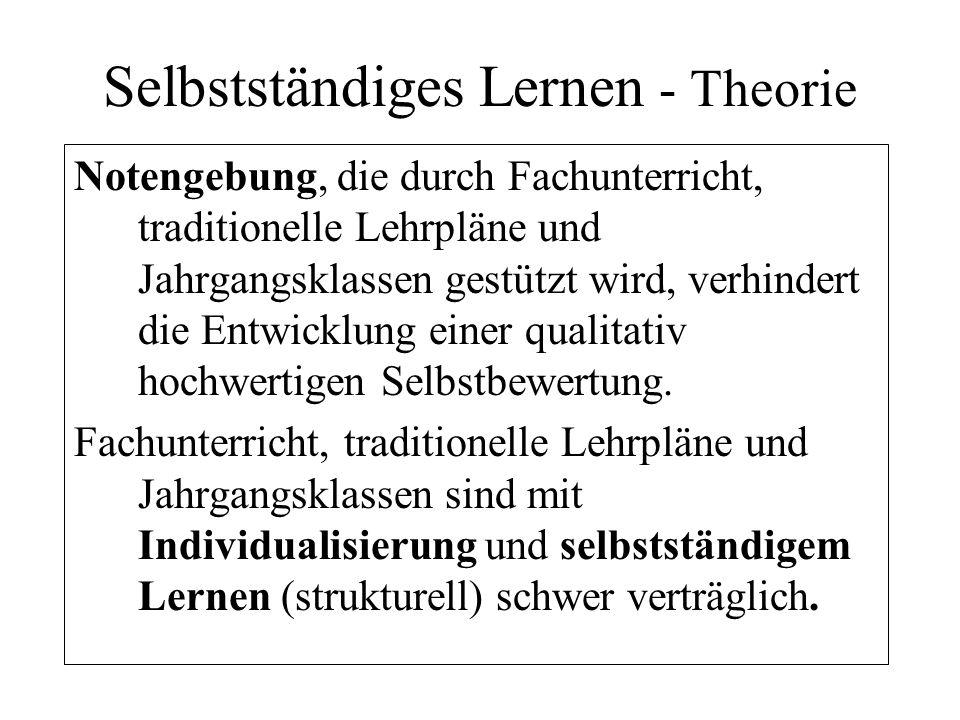 Selbstständiges Lernen - Theorie