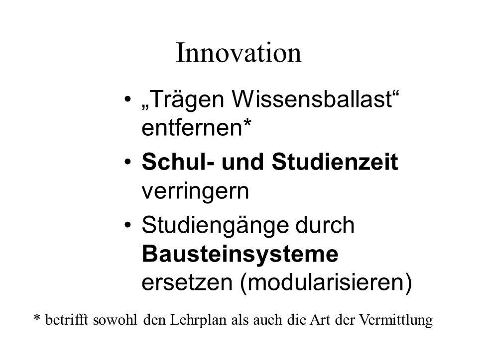 "Innovation ""Trägen Wissensballast entfernen*"