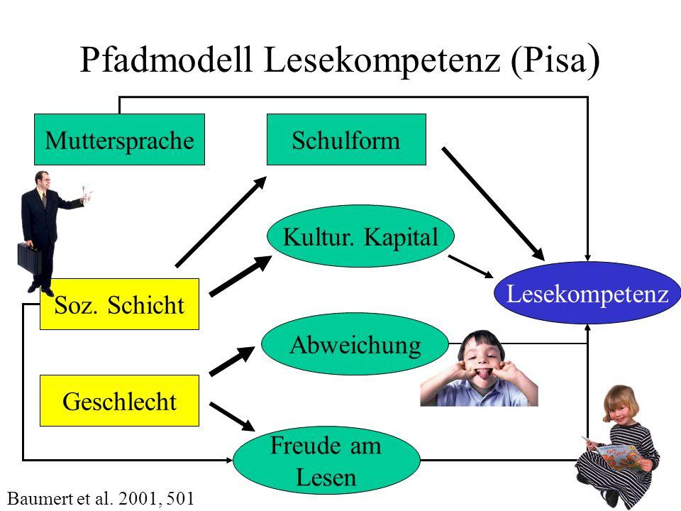 Pfadmodell Lesekompetenz (Pisa)