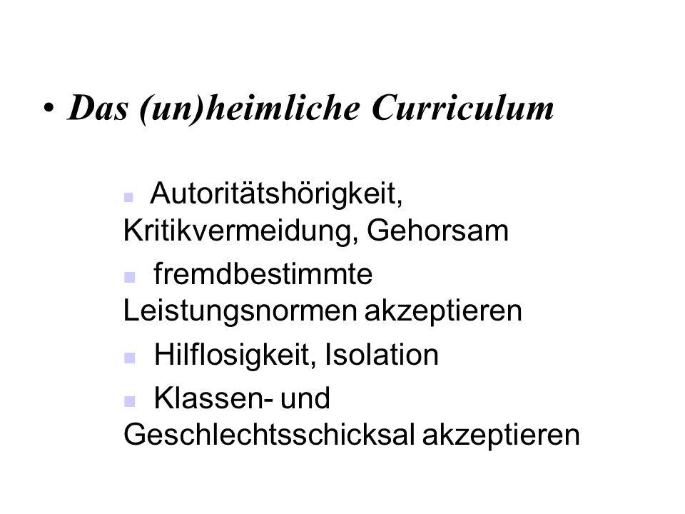 Das (un)heimliche Curriculum