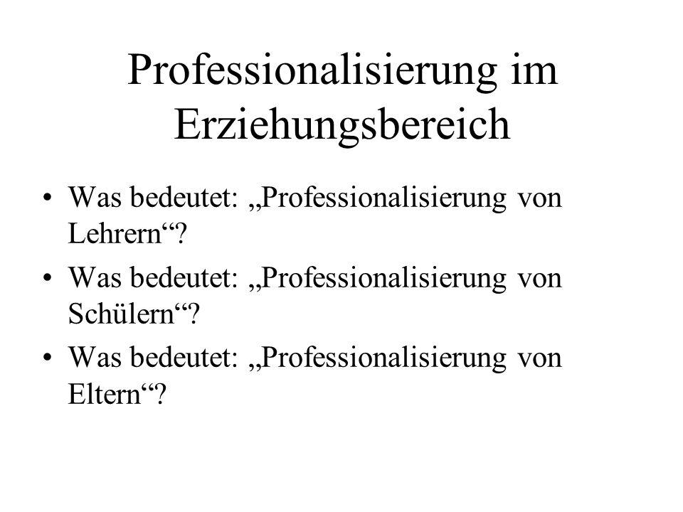 Professionalisierung im Erziehungsbereich