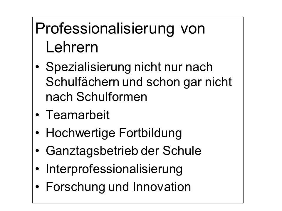 Professionalisierung von Lehrern
