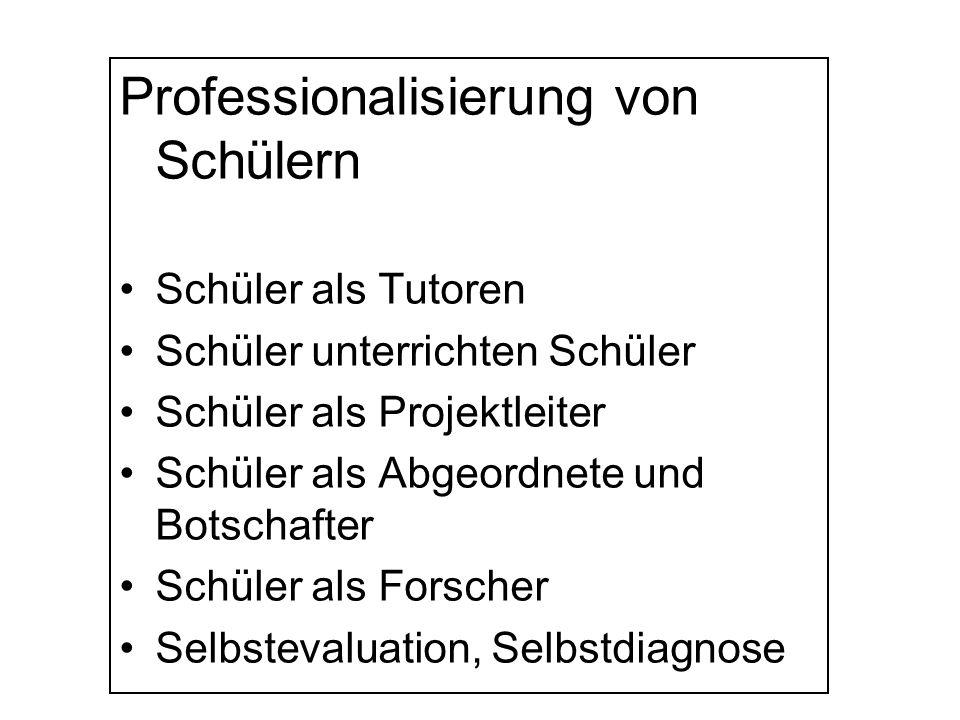 Professionalisierung von Schülern