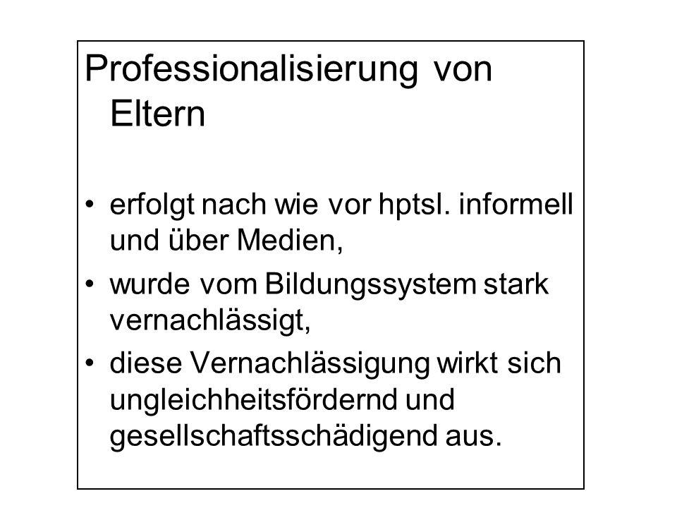 Professionalisierung von Eltern
