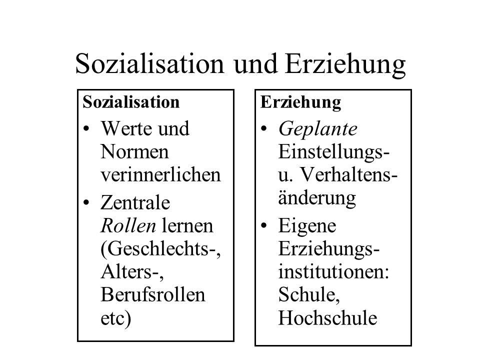 Sozialisation und Erziehung