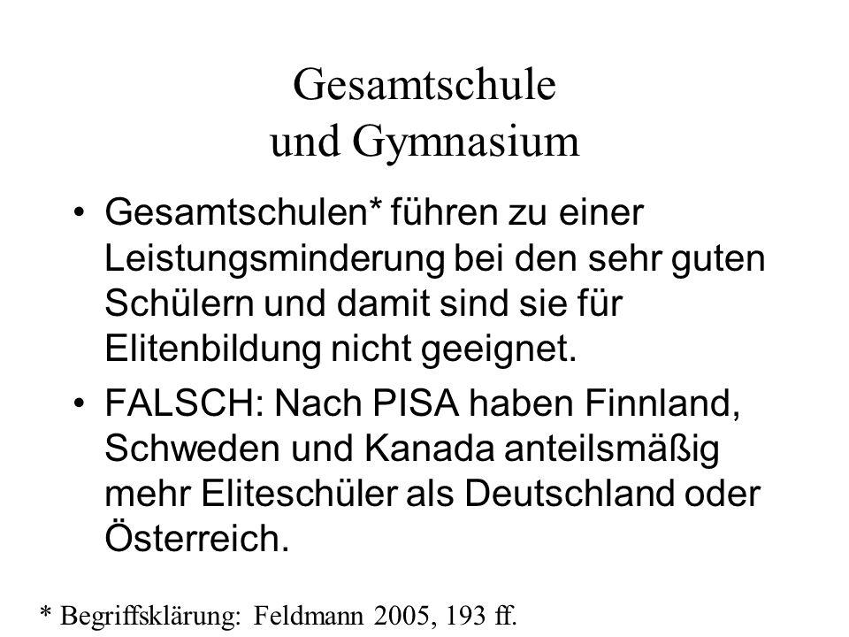 Gesamtschule und Gymnasium