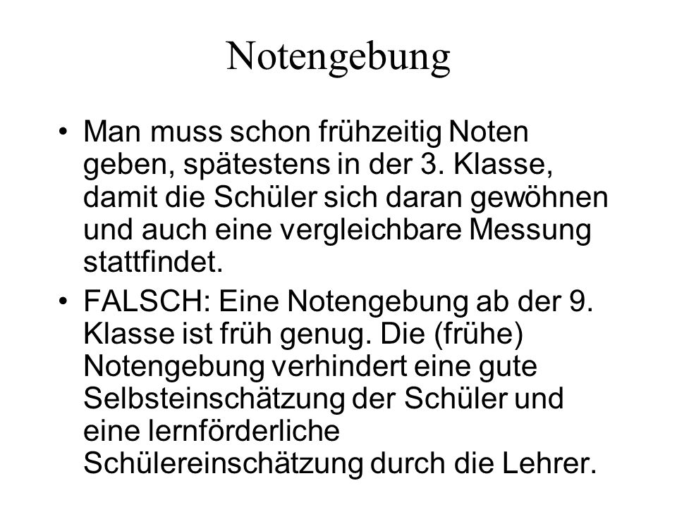 Notengebung