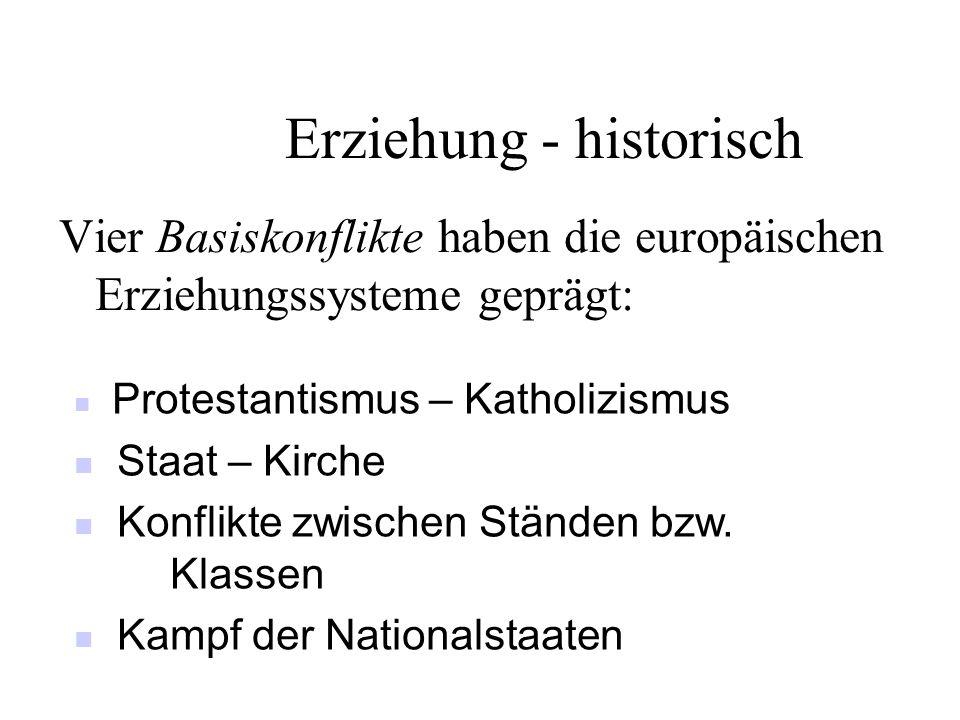 Erziehung - historisch