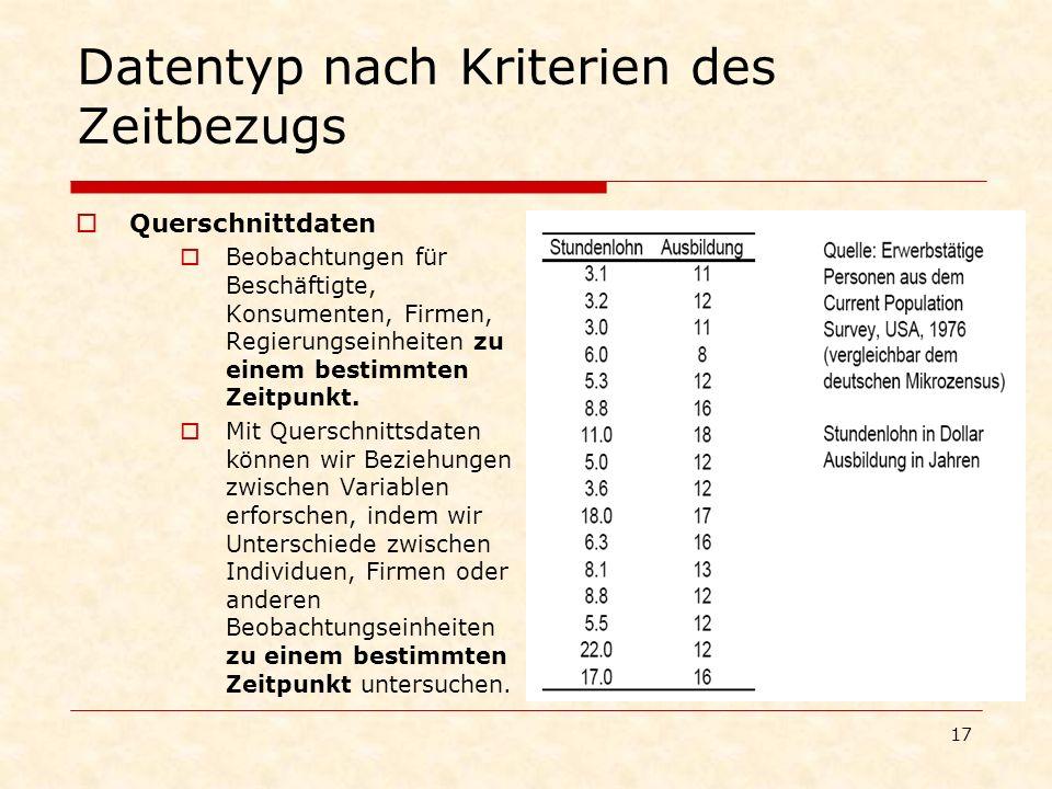 Datentyp nach Kriterien des Zeitbezugs