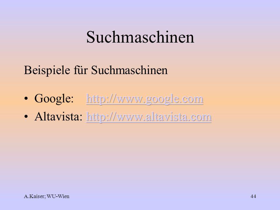 Suchmaschinen Beispiele für Suchmaschinen