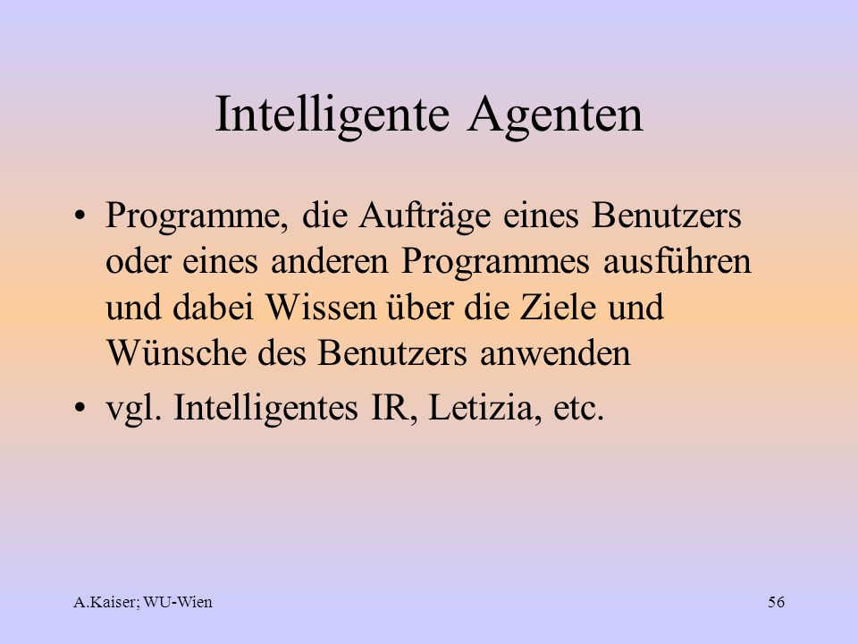 Intelligente Agenten