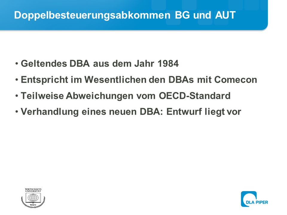 Doppelbesteuerungsabkommen BG und AUT