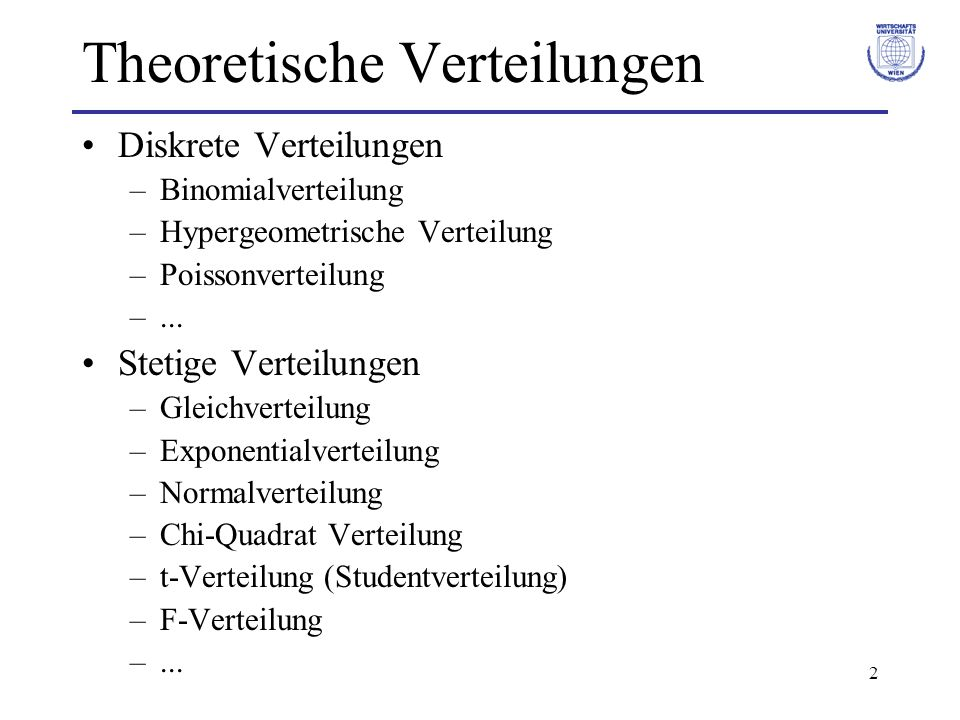 Theoretische Verteilungen