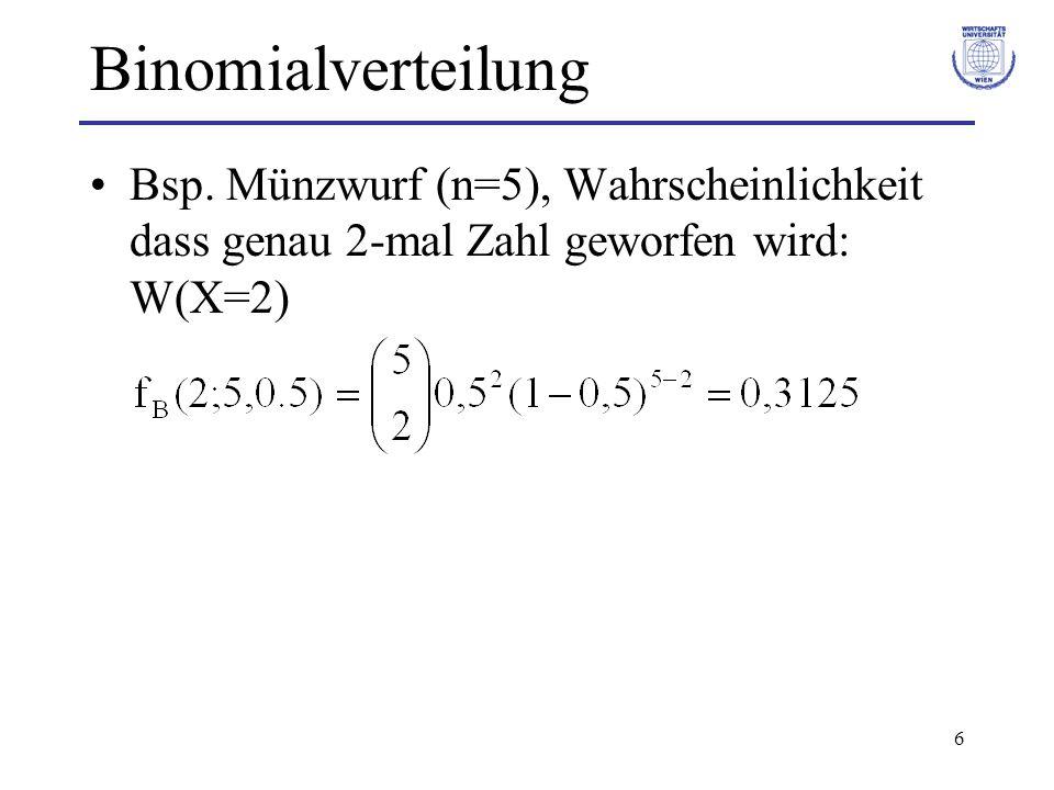 Binomialverteilung Bsp.