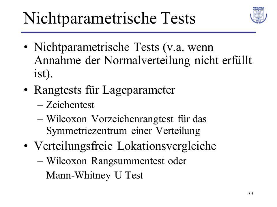 Nichtparametrische Tests