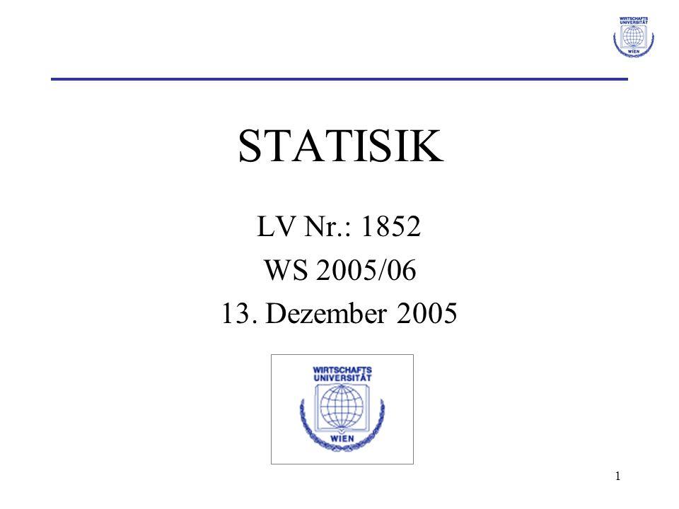 STATISIK LV Nr.: 1852 WS 2005/06 13. Dezember 2005