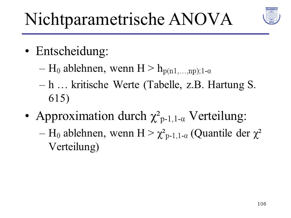 Nichtparametrische ANOVA