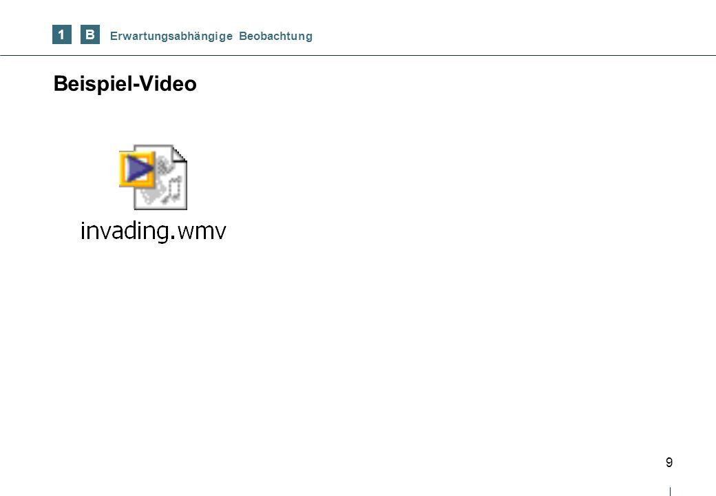 1 B Erwartungsabhängige Beobachtung Beispiel-Video