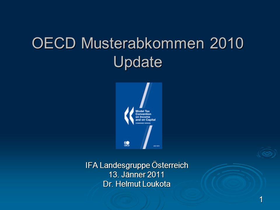 OECD Musterabkommen 2010 Update