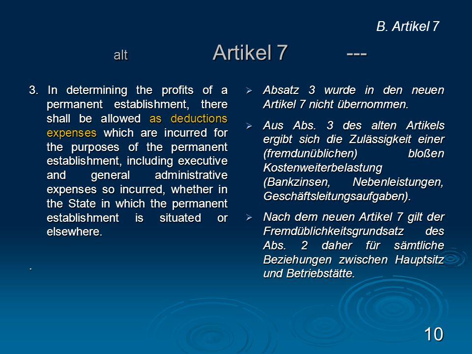 B. Artikel 7 alt Artikel 7 ---