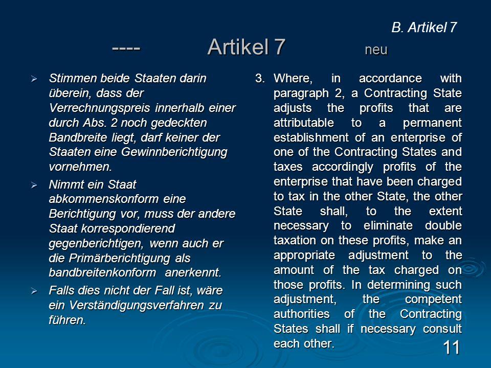 ---- Artikel 7 neu B. Artikel 7