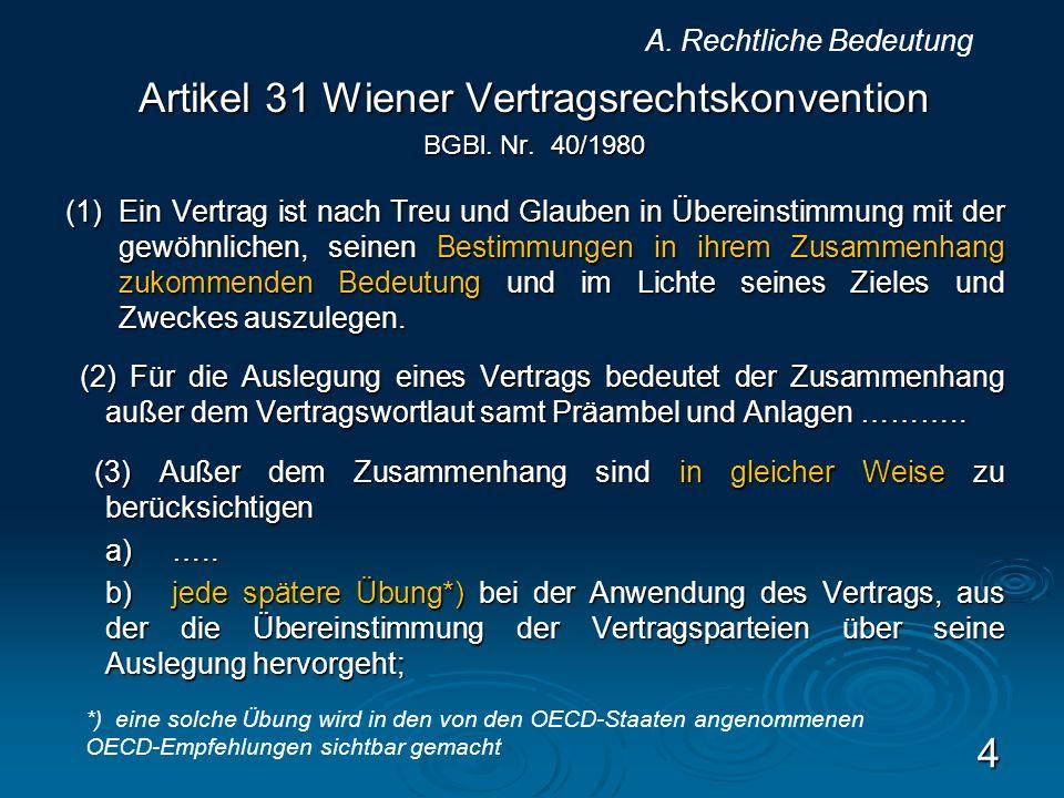 Artikel 31 Wiener Vertragsrechtskonvention
