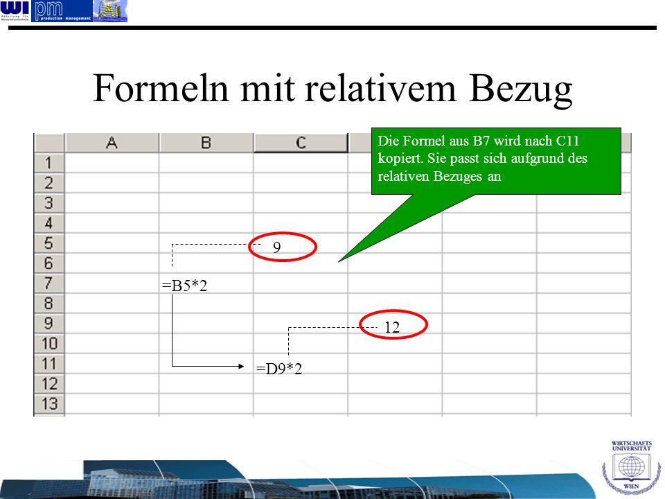 Formeln mit relativem Bezug