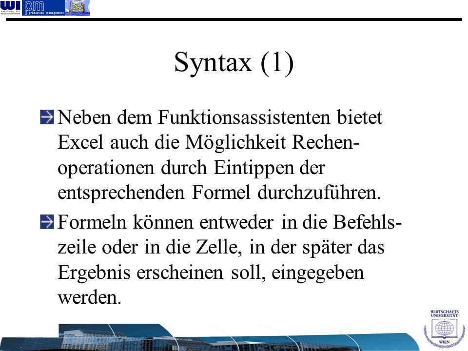 Syntax (1)