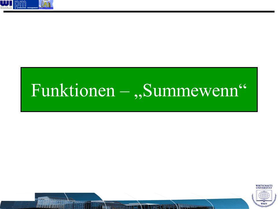 """Funktionen – """"Summewenn"""