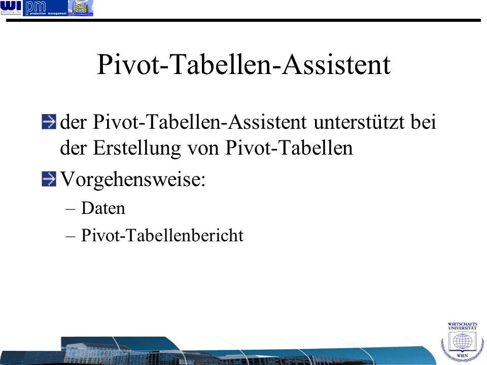 Pivot-Tabellen-Assistent