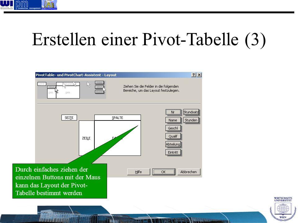 Erstellen einer Pivot-Tabelle (3)