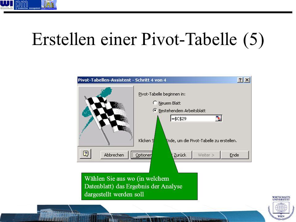 Erstellen einer Pivot-Tabelle (5)