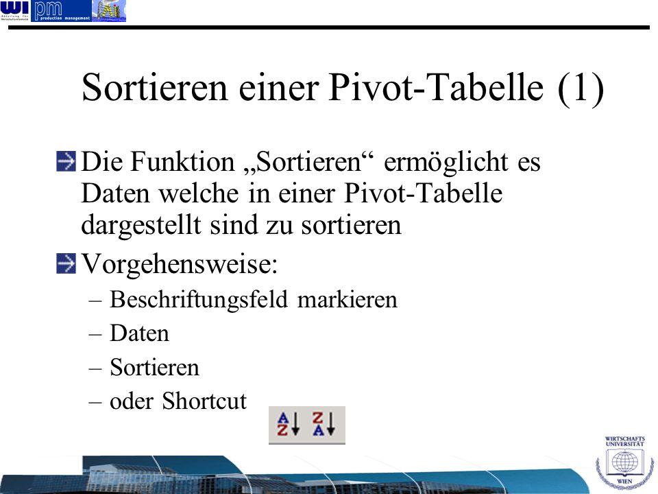 Sortieren einer Pivot-Tabelle (1)