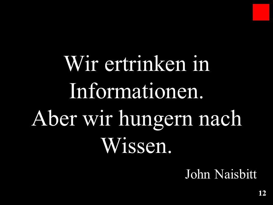 Wir ertrinken in Informationen. Aber wir hungern nach Wissen.