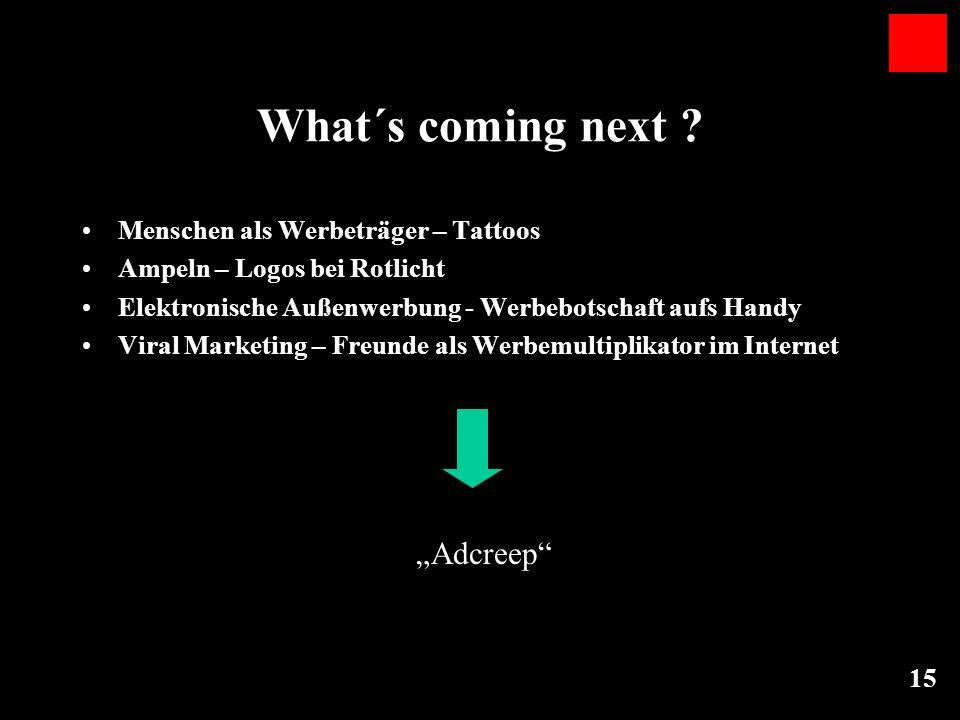 """What´s coming next """"Adcreep Menschen als Werbeträger – Tattoos"""