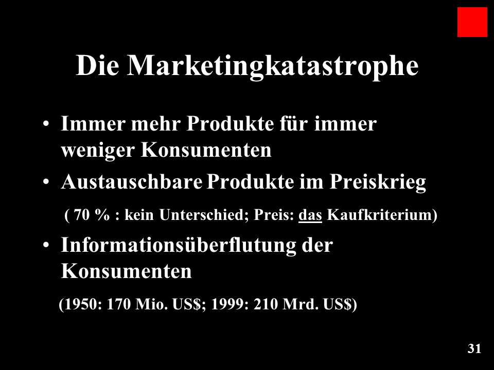 Die Marketingkatastrophe