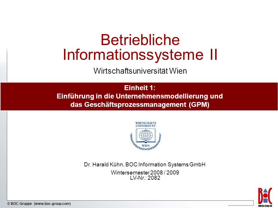 Betriebliche Informationssysteme II