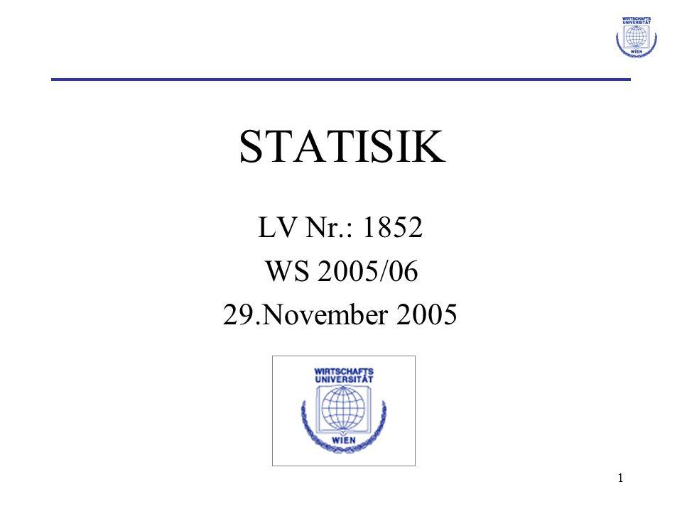 STATISIK LV Nr.: 1852 WS 2005/06 29.November 2005