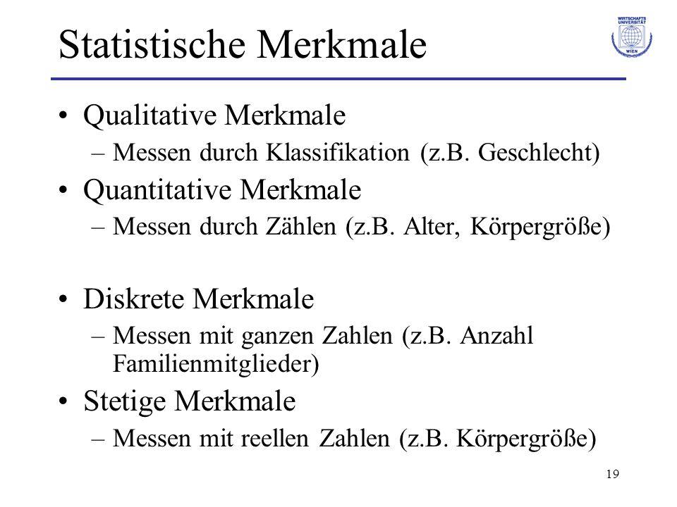 Statistische Merkmale