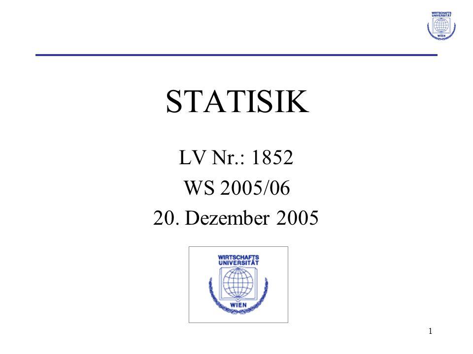 STATISIK LV Nr.: 1852 WS 2005/06 20. Dezember 2005