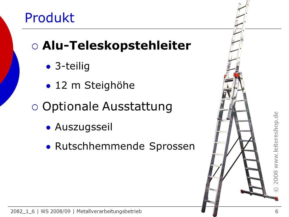 Produkt Alu-Teleskopstehleiter Optionale Ausstattung 3-teilig