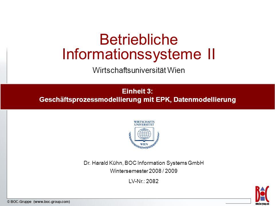 Einheit 3: Geschäftsprozessmodellierung mit EPK, Datenmodellierung
