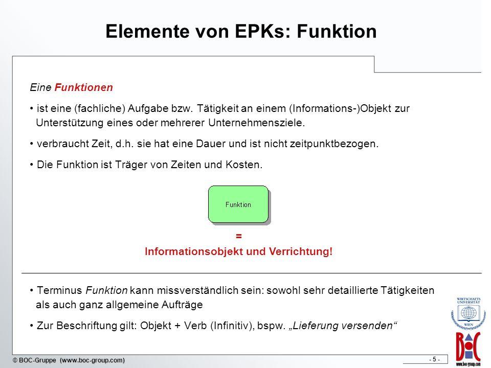 Elemente von EPKs: Funktion