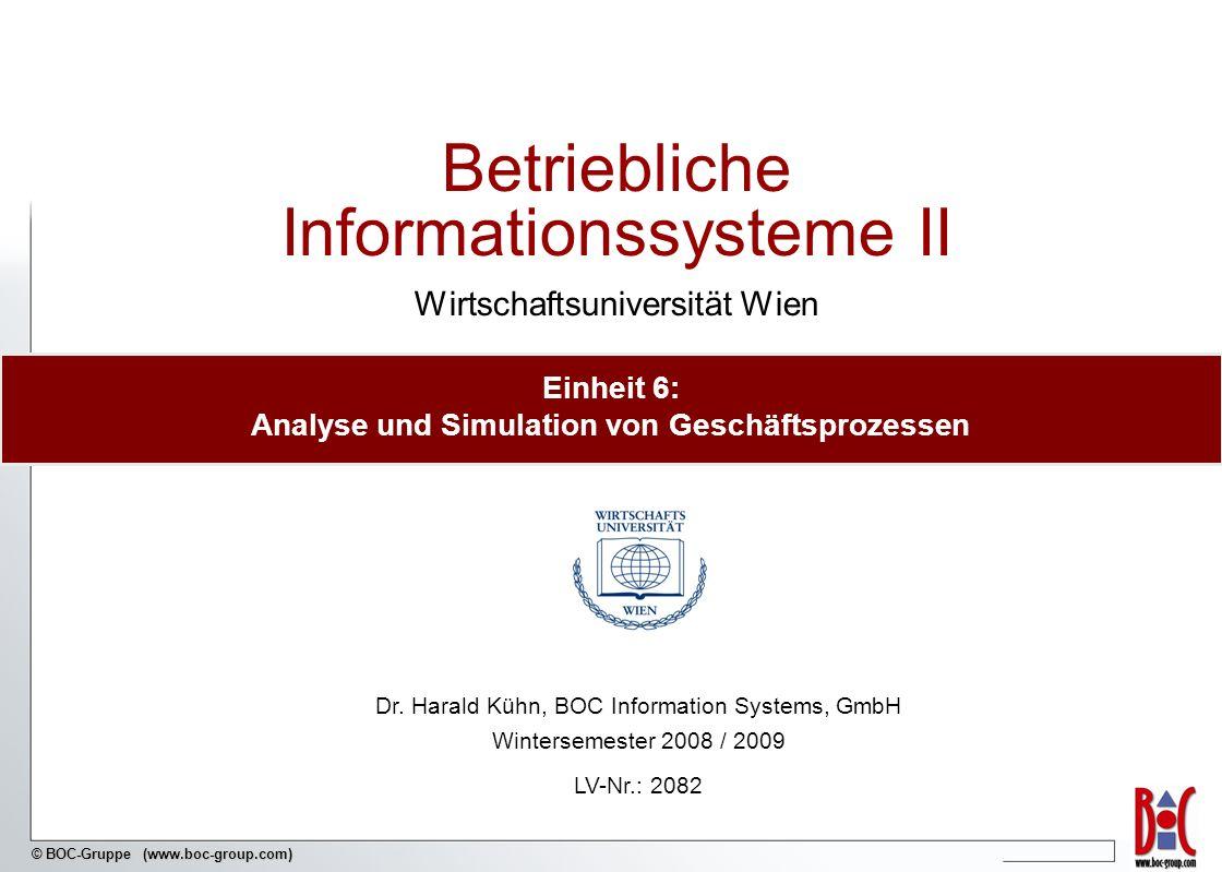 Einheit 6: Analyse und Simulation von Geschäftsprozessen
